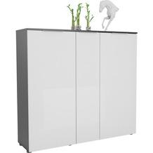 MAJA Möbel Schuhschrank mit Holztop Trend anthrazit Weißglas Typ I