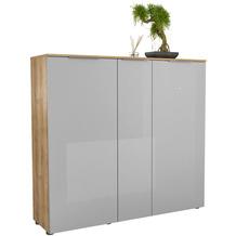 MAJA Möbel Schuhschrank mit Holztop Trend Riviera Eiche Glas seidengrau Typ I