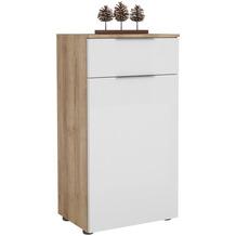 MAJA Möbel Schuhschrank mit Holztop Trend Riviera Eiche Weißglas Typ II