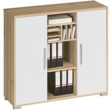 MAJA Möbel Sideboard System Edelbuche weiß Hochglanz