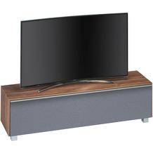 MAJA Möbel Soundboard Eiche dunkel - Akustikstoff grau 1611 x 436 x 420 mm