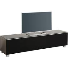 MAJA Möbel Soundboard Glas edelstahloptik - Akustikstoff schwarz 1802 x 433 x 420 mm