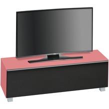 MAJA Möbel Soundboard Glas hibiskus matt - Akustikstoff schwarz 1402 x 433 x 420 mm