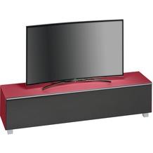 MAJA Möbel Soundboard Glas himbeerrot matt - Akustikstoff schwarz 1802 x 433 x 420 mm
