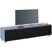 MAJA Möbel Soundboard Glas himmelblau matt - Akustikstoff schwarz 1802 x 433 x 420 mm
