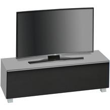 MAJA Möbel Soundboard Glas marmorgrau matt - Akustikstoff schwarz 1402 x 433 x 420 mm