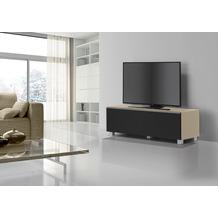 MAJA Möbel Soundboard Glas sand matt - Akustikstoff schwarz 1402 x 433 x 420 mm