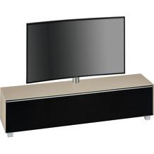 MAJA Möbel Soundboard Glas sand matt - Akustikstoff schwarz 1802 x 1210 x 420 mm