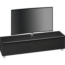 MAJA Möbel Soundboard SOUNDCONCEPT GLASS Schwarzglas matt - Akustikstoff schwarz 180,2 x 121 x 42 cm