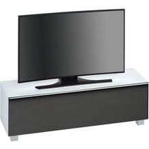 MAJA Möbel Soundboard Weißglas matt - Akustikstoff schwarz 1402 x 433 x 420 mm