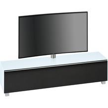 MAJA Möbel Soundboard Weißglas matt - Akustikstoff schwarz 1802 x 1210 x 420 mm