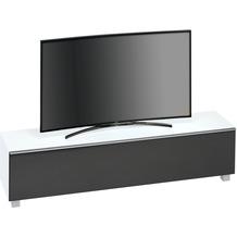 MAJA Möbel Soundboard Weißglas matt - Akustikstoff schwarz 1802 x 433 x 420 mm