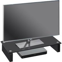 MAJA Möbel TV-Board MEDIA ZUBEHÖR Schwarzglas 60 x 12,2 x 27,6 cm