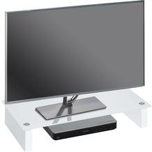 MAJA Möbel TV-Board MEDIA ZUBEHÖR Weißglas 60 x 12,2 x 27,6 cm