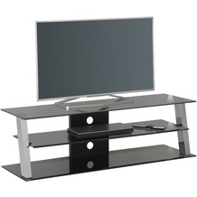 MAJA Möbel TV-Rack Media Modelle Metall Chrom Rauchglas