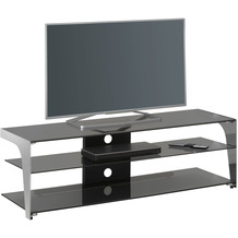 MAJA Möbel TV-Rack Media Modelle Glas Metall Chrom Rauchglas