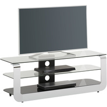 MAJA Möbel TV-Rack Media Modelle Glas Metall Chrom Schwarzglas Typ I