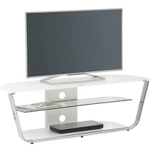 MAJA Möbel TV-Rack Media Modelle Glas Metall Chrom Weißglas