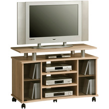MAJA Möbel TV-Rack Media Modelle Holz Sonoma-Eiche Alu-Optik