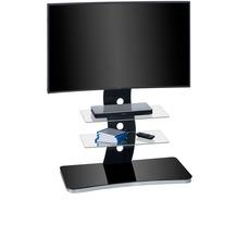MAJA Möbel TV-Rack MEDIA MODELLE GLAS Metall Alu - Schwarzglas 88 x 122 x 44 cm
