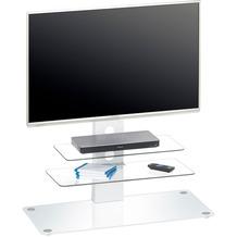 MAJA Möbel TV-Rack MEDIA MODELLE GLAS Metall weiß - Weißglas 90 x 95 x 40 cm
