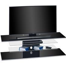 MAJA Möbel TV-Rack MEDIA MODELLE GLAS Schwarzglas 140 x 40,2 x 45 cm