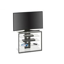 MAJA Möbel TV- und HiFi-Rack Media Modelle Glas Metall anthrazit Klarglas