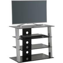 MAJA Möbel TV- und HiFi-Rack Media Modelle Glas Metall Chrom Rauchglas hoch