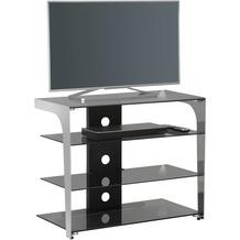 MAJA Möbel TV- und HiFi-Rack Media Modelle Glas Metall Chrom Rauchglas