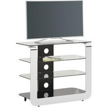 MAJA Möbel TV- und HiFi-Rack Media Modelle Glas Metall Chrom Schwarzglas