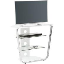 MAJA Möbel TV- und HiFi-Rack Media Modelle Glas Metall Chrom Weißglas