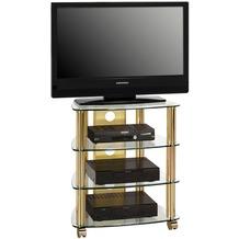 MAJA Möbel TV- und HiFi-Rack Messing - Klarglas 600 x 720 x 465 mm