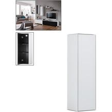MAJA Möbel Soundconcept Hängeschrank Weißglas matt 250 x 900 x 250 mm