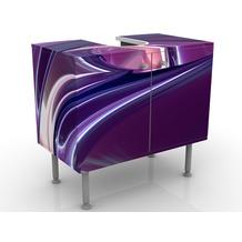 Apalis Design Waschtisch Circles In Purple 60x55x35cm 60x55x35cm