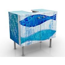 Apalis Design Waschtisch Fish in the Blue 60x55x35cm 60x55x35cm