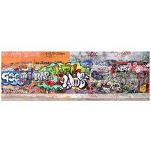 Apalis Leinwandbild No.35 Graffiti 120x40cm 120x40cm