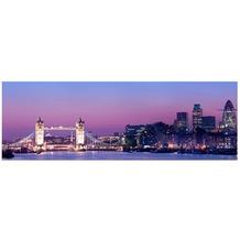 Apalis Leinwandbild No.519 Tower Bridge in London at Night 120x40cm 120x40cm