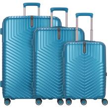 march Lotus 4-Rollen Kofferset 3tlg. omega blue metallic