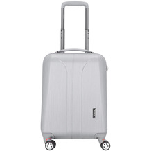 march New Carat 4-Rollen Kabinentrolley 55 cm silver brushed