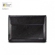 maroo Executive Ledertasche/Sleeve Microsoft Surface 3 Marbled Black MR-MS3206