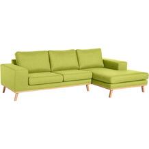 Max Winzer 2-Sitzer Sofa Alabama Apfel links mit Longchair rechts Alabama Flachgewebe apfel 268 x 152 x 85