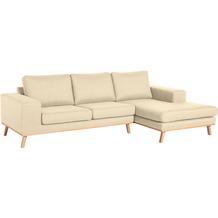 Max Winzer 2-Sitzer Sofa Alabama Beige links mit Longchair rechts Alabama Flachgewebe beige 268 x 152 x 85
