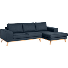 Max Winzer 2-Sitzer Sofa Alabama Blau links mit Longchair rechts Alabama Flachgewebe blau 268 x 152 x 85