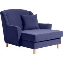 Max Winzer Big-Sessel inkl. 1x Zierkissen 55x55cm blau 136 x 142 x 107