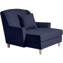 Max Winzer Big-Sessel inkl. 1x Zierkissen 55x55cm dunkelblau 136 x 142 x 107