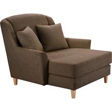 Max Winzer Big-Sessel inkl. 1x Zierkissen 55x55cm Judith feines Strukturgewebe schoko 136 x 142 x 107