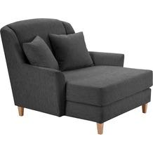 Max Winzer Big-Sessel inkl. 1x Zierkissen 55x55cm Judith feines Strukturgewebe schwarz 136 x 142 x 107