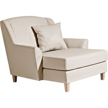 Max Winzer Big-Sessel inkl. 1x Zierkissen 55x55cm Judith Kunstleder beige 136 x 142 x 107
