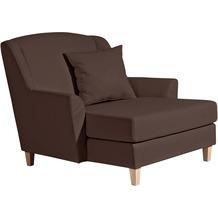 Max Winzer Big-Sessel inkl. 1x Zierkissen 55x55cm Judith Kunstleder braun 136 x 142 x 107