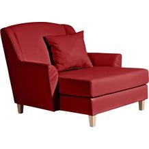 Max Winzer Big-Sessel inkl. 1x Zierkissen 55x55cm Judith Kunstleder chilli 136 x 142 x 107